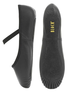 Bloch Arise Black Leather Full Sole Ballet Shoe