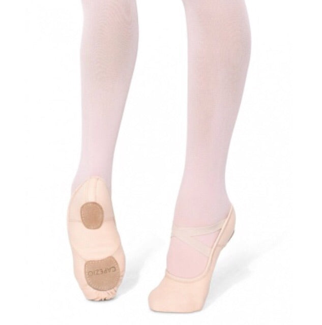 Capezio Hanami Pink Canvas Split Sole Ballet Shoes - TheShoeZoo
