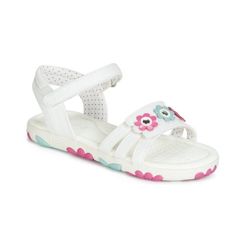 Geox Haiti White Leather Sandal