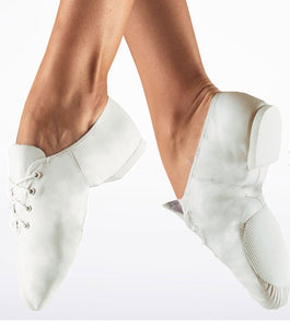 So Danca White Split sole jazz shoe