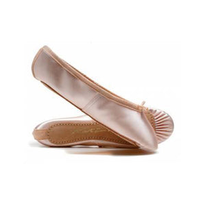 Katz Pink Satin Full Sole Ballet Shoes