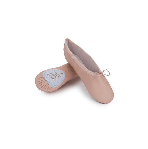 Freed Top Spin Pink Leather Split Sole Ballet Shoes - TheShoeZoo