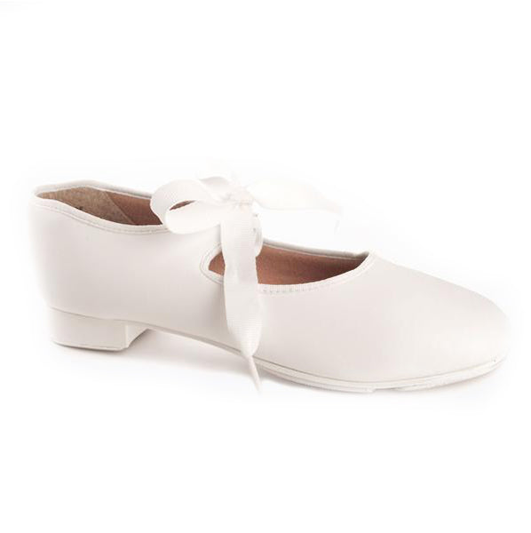 Capezio White Junior Tyette Tap shoes - TheShoeZoo