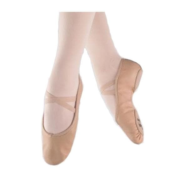 1st Position Pro Pink Leather Ballet Shoes - TheShoeZoo
