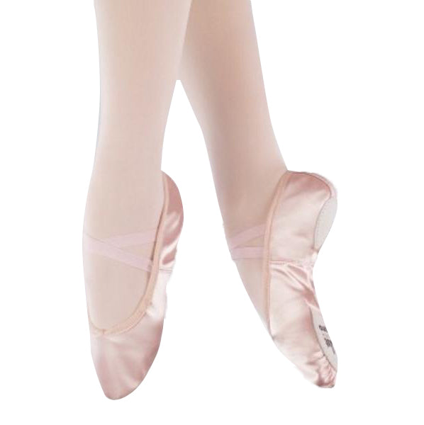 1st Position Pro Pink Satin Split Sole Ballet Shoes - TheShoeZoo
