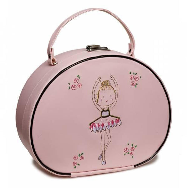 Katz Girls Pink Ballerina Hard Vanity Case