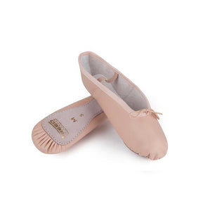 Freed Pink Leather Full Sole Ballet Shoes - TheShoeZoo
