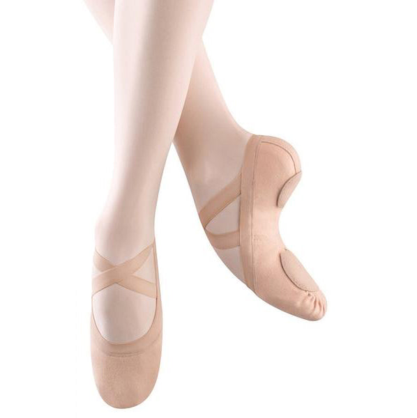 Bloch Synchrony Pink Canvas Split Sole Ballet Shoes - TheShoeZoo