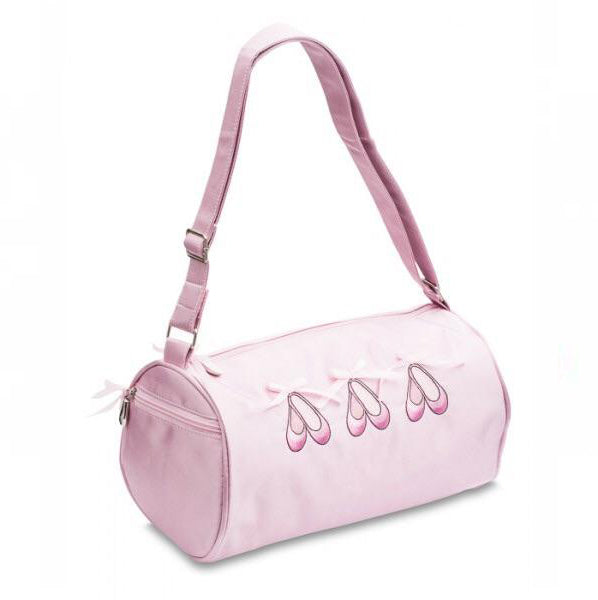 Katz pink satin Ballerina shoes barrel shoulder bag