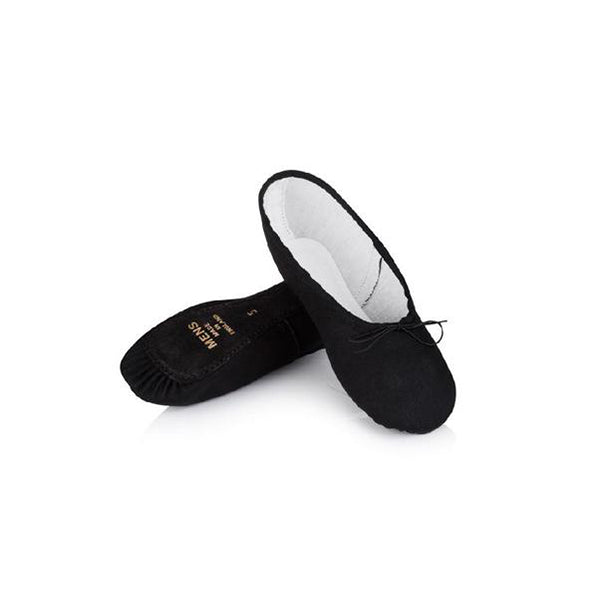 Freed Top Spin Black Canvas Ballet Shoes - TheShoeZoo
