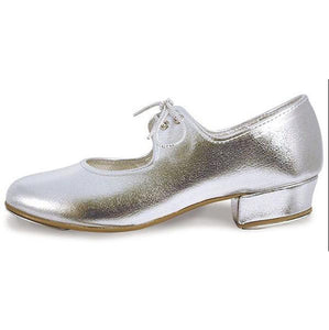 Roch Valley Silver Low Heel Tap Shoes