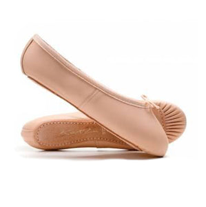 Katz Pink Leather Full Sole Ballet Shoes
