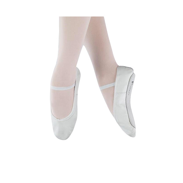 1st Position White Leather Ballet Shoes - TheShoeZoo