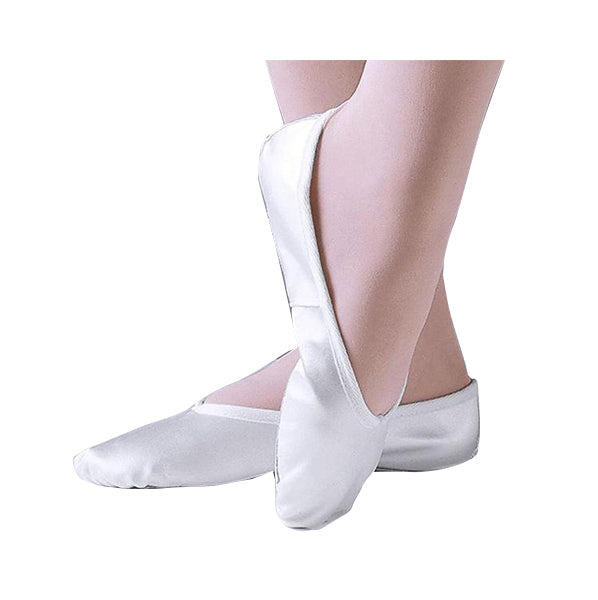 1st Position White Satin Full Sole Ballet Shoes - TheShoeZoo