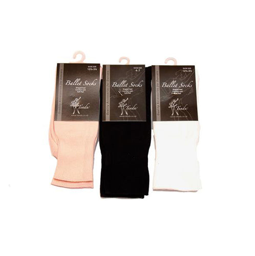 Tendu Black Dance Socks