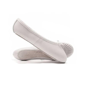 Katz White Leather Full Sole Ballet Shoes
