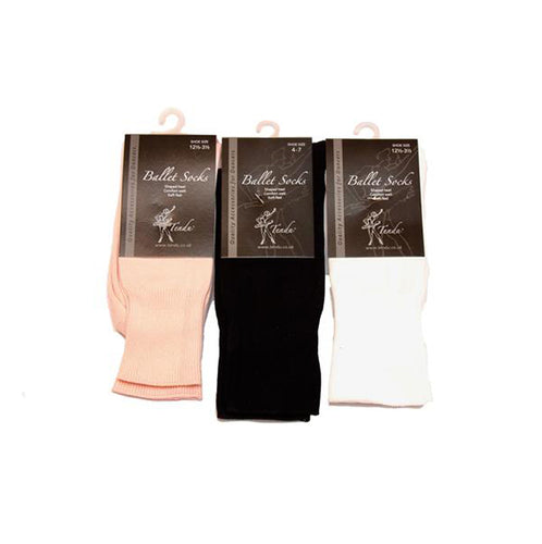 Tendu White Ballet Socks