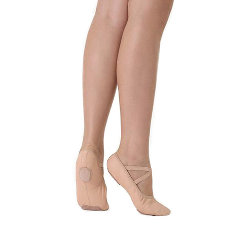 So Danca Stretch Leather Split Sole Ballet Shoes