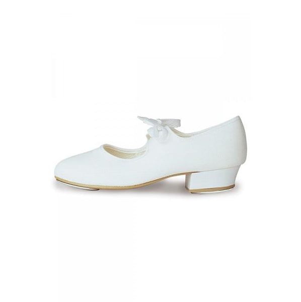 Roch Valley White Low Heel Tap Shoes