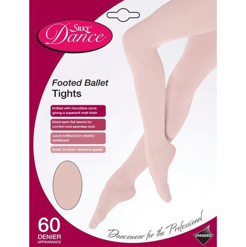 Silky Childrens Footed Ballet Tights Theatrical Pink