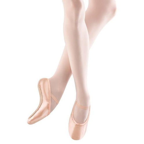 Bloch Pink Stretch Satin Full Sole Ballet Shoes - TheShoeZoo
