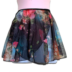Tendu Floral Wrap Dance Skirt