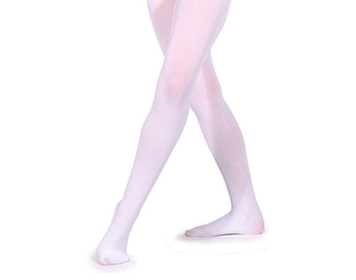 Silky Childrens Footed Ballet Tights White