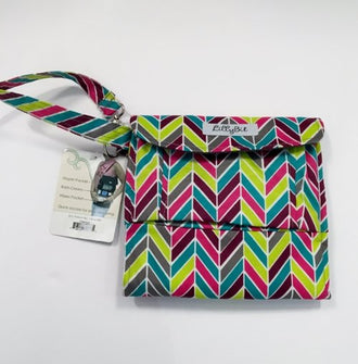 *NEW* Lillybit Uptown Diaper Clutch In Chevron Print O/S