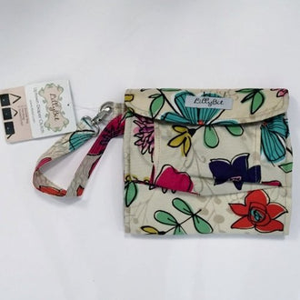 *NEW* Lillybit Uptown Diaper Clutch In Watercolour Floral Print O/S