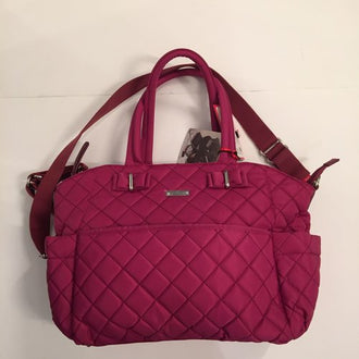 "*NEW* Storksac ""Bobby"" Quilted Diaper Bag With Insulated Bottle Bag"