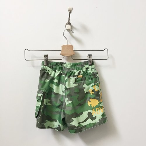 Gap Drawstring Camo Print 'Ready For Adventure' Swim Trunks 18M-24M