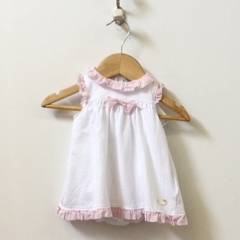 Armani Baby Sleeveless Ruffle Pointelle Dress 3M