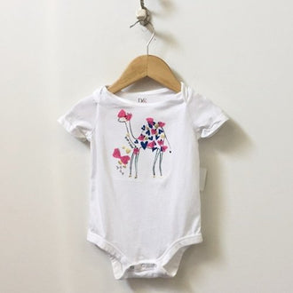 DVF for Gap Short Sleeve Giraffe Onesie with Hearts 6M - 12M