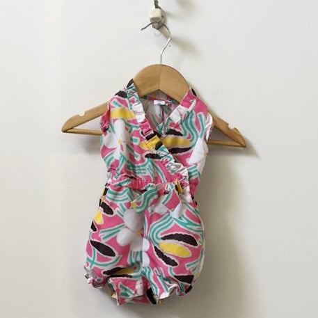 DVF for Gap Sleeveless Crossover Romper with Ruffle Detail 0 - 3M
