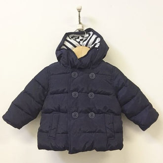 Gap Hooded Double Breasted Puffer Jacket 12M-18M