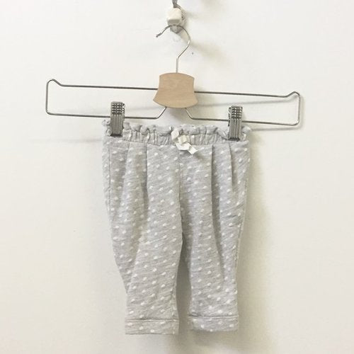 Gap Cotton Blend Polka Dot And Pleated Sweatpants 0 - 3M