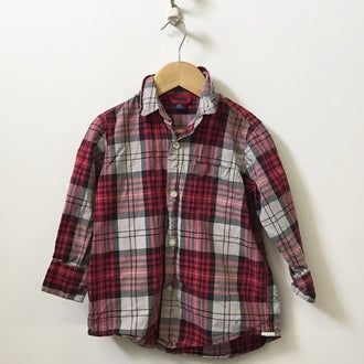 Gap Long Sleeve Plaid Shirt 4-5Y