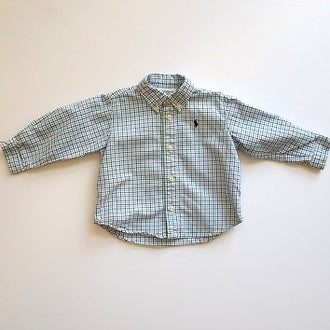 Ralph Lauren Gingham Shirt 9M