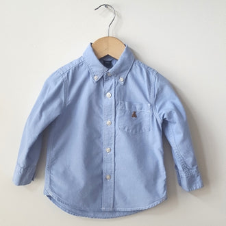 Gap Long Sleeve Button Down Oxford Shirt 2T