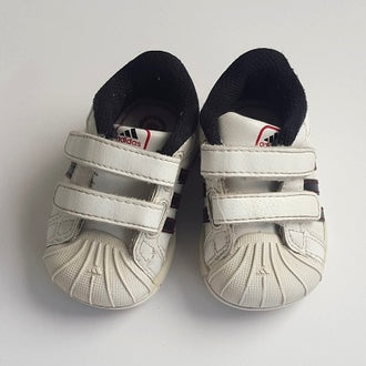 "Adidas ""Superstar"" Leather Velcro Sneakers 3K"