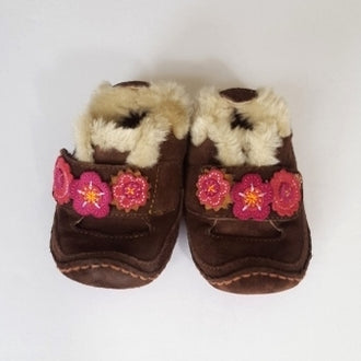 Stride Rite Suede Faux Fur Shoes 3 Medium