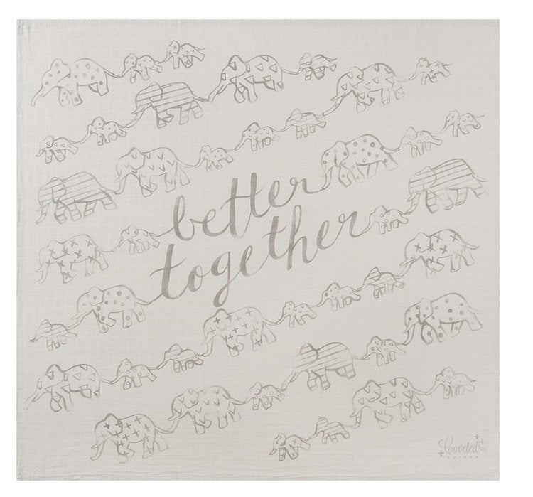 """Better Together"" Organic Swaddle Scarf"