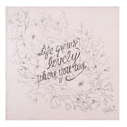 Life Grows Lovely Organic Swaddle Scarf