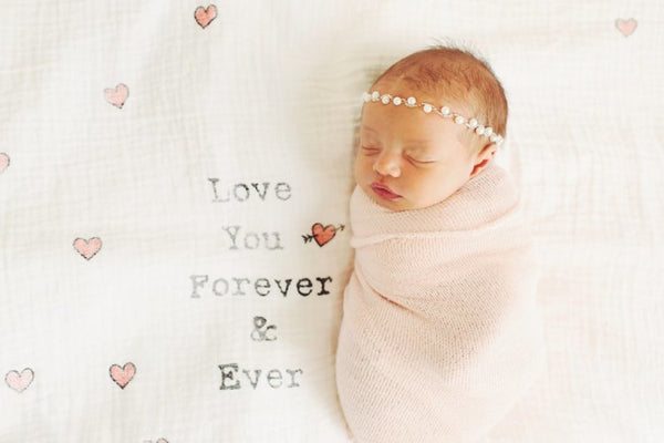 Love You Forever Organic Swaddle Scarf