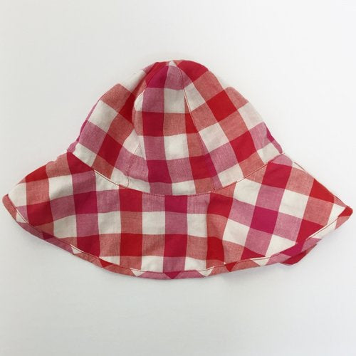 Catimini Gingham Sunhat With Bow 2T