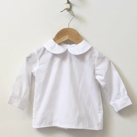 Anvy Kids Cotton Dress Shirt With Peter Pan Collar 12M