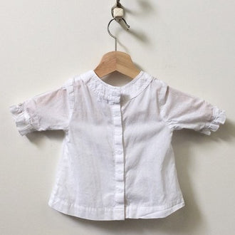 Ikks Back Button Floral Peasant Blouse With Matching Bloomers 12M