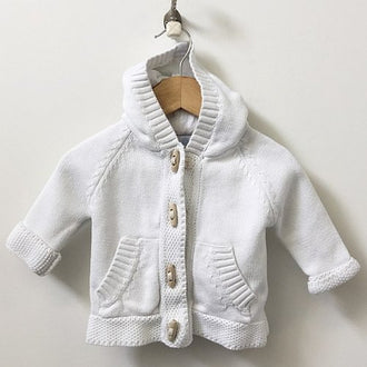 Beba Bean Long Sleeve Knit Cardigan with Toggles  6M-12M