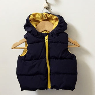 Gap Hooded Puffer Vest 0 - 6M