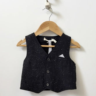 *NEW* Deux Par Deux Vest with Bow Tie 2T